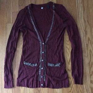 BKE Boutique Maroon/Red Sweater